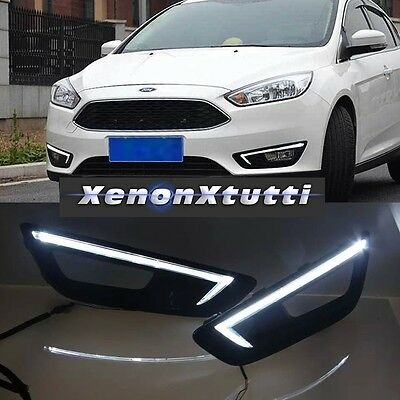 Luci Diurne Led Ford Focus 2015-2017 Bianche 6000K