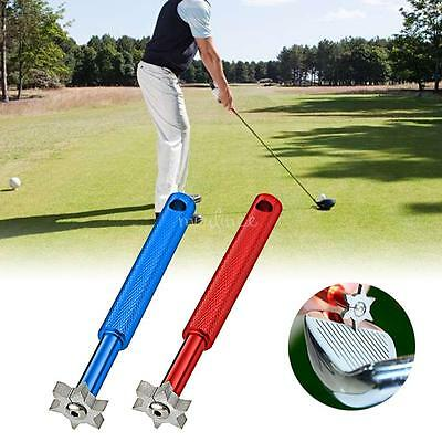 Golf UV Groove Edge Iron Wedge Club Sharpener Regrooving Cleaner Cleaning Tool