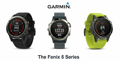 Garmin Fenix 5 GPS Sport Running Smart Watch Smartwatch Multisport Beat 5