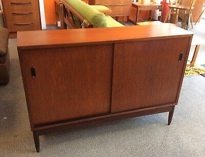 Stunning 1960s Danish Teak Sideboard. Flat Screen TV Unit. Mid Century Modern.