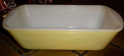Vintage Glasbake Yellow Ovenware Loaf Pan 1.5 Qt