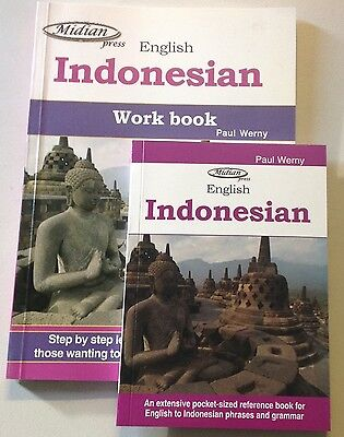 Learn Indonesian Bahasa Indonesian work book learn and phrase book