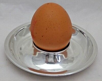 Vintage Sterling Solid Silver Unusual Art Deco Egg Cup Chester 1921 (738-A-KON)
