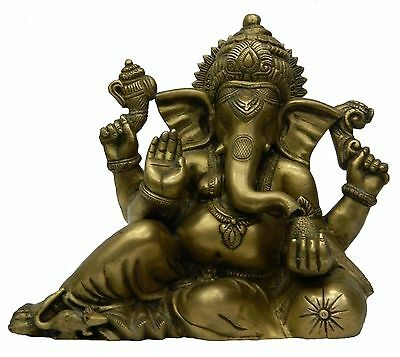 Statue of ganesh sitting with pillow handicrafts product by BharatHaat™BH02648