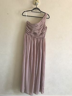 Mink / Antique Pink Floor Length Dress, Size 14. Bridesmaid, Prom, Evening Gown