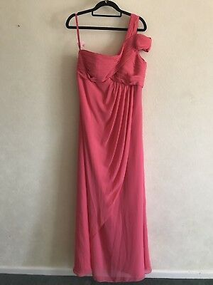 Coral Floor Length Dress, Size 14. Bridesmaid, Evening Gown, Prom