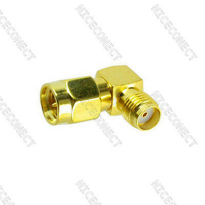 5x SMA male to SMA female jack right angle in series RF adapter connector