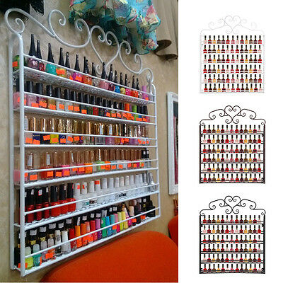 6 Tier Metal Wall Mounted Nail Polish Rack Organizer Display Holder Shelf Home
