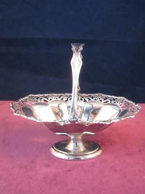 Hallmarked Solid  Sterling Silver Antique Pierced Bon Bon Basket Dish Birmingham