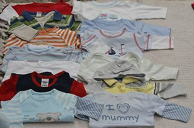 Baby Boys Mixed Bundle of Trousers T shirts etc for Babies Aged 0-3 Months