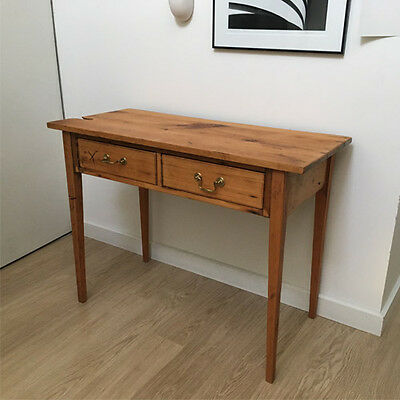 2 drawer Solid timber side table