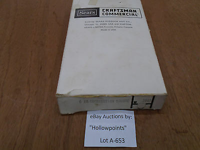 A653 Craftsman Commercial Combination Square 9-3869 Hardened 4 Grad Rare in box