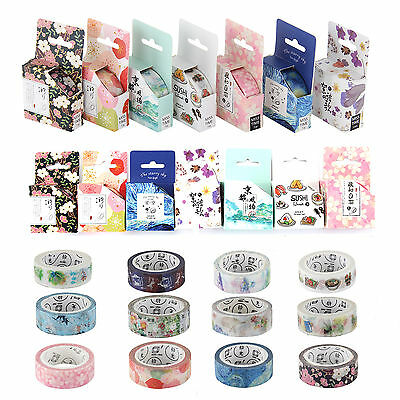 Premium Washi Tape 15mmX7m Roll Decorative Sticky Paper Masking Tape Adhesive