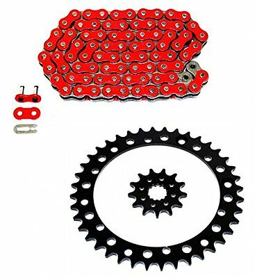 KTM 65 SX 2000 2001 2002 2003 2004 420 SH Red Chain & Front Rear Sprocket Kit