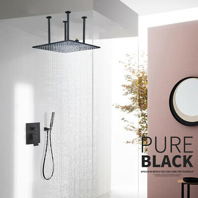Thermostatic Shower Panel Tower Waterfall &Rainfall Massage System with Jet Tap