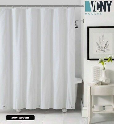 Carnation Home 10 Gauge Anti Mildew Shower Curtain Liner In White MA