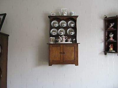 Miniture Welsh Dresser With Contents In Brown