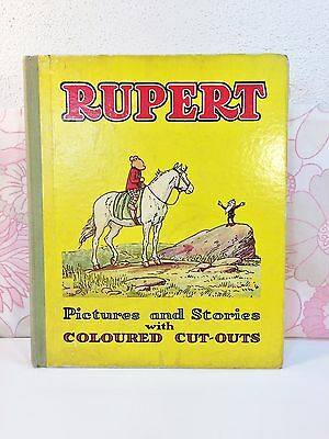 Vintage Rupert Book Pictures & Stories with Coloured Cut Outs 50s M & S Complete