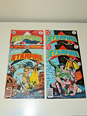 Vintage 1976 DC Comic Book-STARFIRE issues 2-4