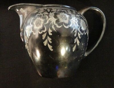 James W. Tufts Silver Company Creamer FLORAL ENGRAVING  4502