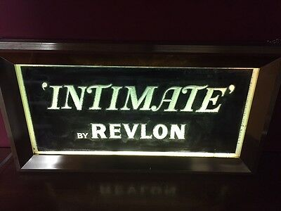 Revlon 'INTIMATE' Perfume Vintage Lighted Sign/1955-1960's
