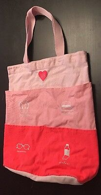 Victoria's Secret Limited Edition Pocket Beach Tote Pink Multiple Pockets