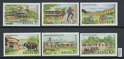 XG-AJ711 KENYA - Wild Animals, 1988 Tourism, Safari, 6 Values MNH Set