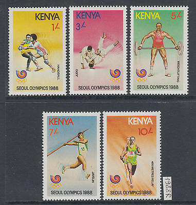 XG-AJ607 KENYA - Olympic Games, 1988 Korea Seoul '88 MNH Set