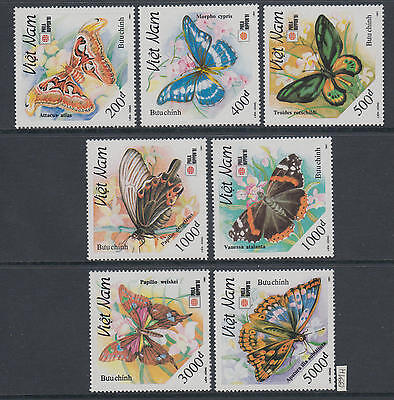 XG-AJ633 VIETNAM - Butterflies, 1991 Philanippon, Nature MNH Set