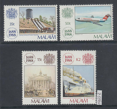 XG-AJ615 MALAWI - Ships, 1988 Aviation, Lloyd'S Of London MNH Set