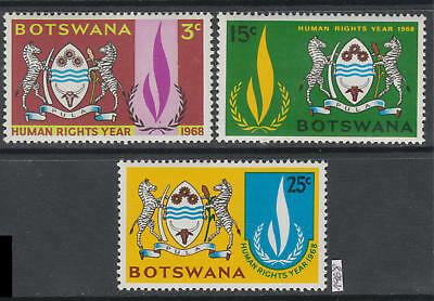 XG-AK051 BOTSWANA - Human Rights, 1968 Year, Coats Of Arms MNH Set