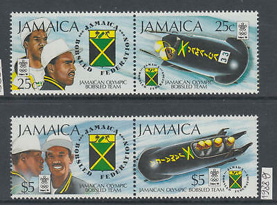 XG-AJ715 JAMAICA IND - Olympic Games, 1988 Bobsled Team, 2 Pairs MNH Set