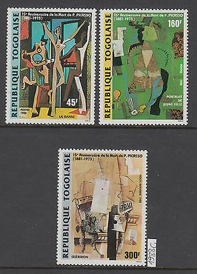 XG-AJ565 TOGO IND - Paintings, 1988 Picasso Anniversary MNH Set