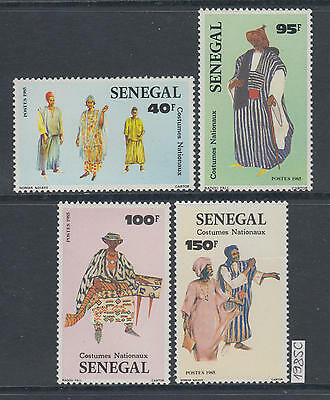 XG-AK409 SENEGAL IND - Costumes, 1985 National, 4 Values MNH Set