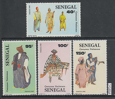 XG-AK571 SENEGAL IND - Costumes, 1985 National, 4 Values MNH Set