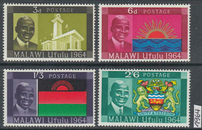 XG-AK611 MALAWI - Coats Of Arms, 1964 Ufulu, Unity, Freedom MNH Set