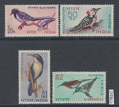 XG-AK723 INDIA IND - Birds, 1968 Nature, 4 Values MNH Set