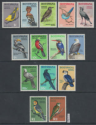XG-AJ872 BOTSWANA - Birds, 1967 Nature, 14 Values MNH Set