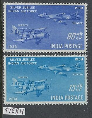 XG-AK807 INDIA IND - Aviation, 1958 Indian Air Force Silver Jubilee MNH Set