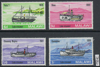 XG-AK604 MALAWI - Ships, 1967 Boats, 4 Values MNH Set