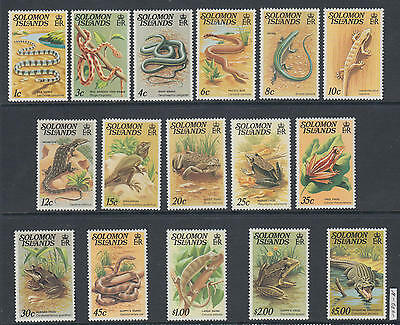 XG-AK759 SOLOMON ISLANDS IND - Reptiles, 1979 Wild Animals, Nature Fauna MNH Set