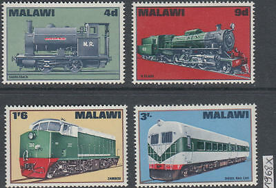 XG-AK996 MALAWI - Trains, 1968 Railways, Locomotives, 4 Values MNH Set