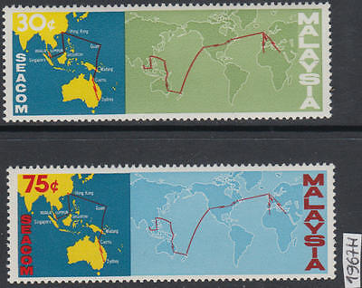 XG-AK969 MALAYSIA - Maps, 1967 Seacom, Communication MNH Set