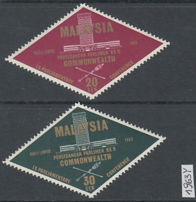 XG-AK997 MALAYSIA - Commonwealth, 1963 Parliamentary Conference MNH Set