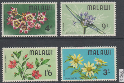 XG-AK998 MALAWI - Flowers, 1968 Flora, Nature, 4 Values MNH Set