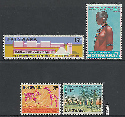 XG-AK895 BOTSWANA - Anniversaries & Events, 1968 Graffiti, Nature MNH Set