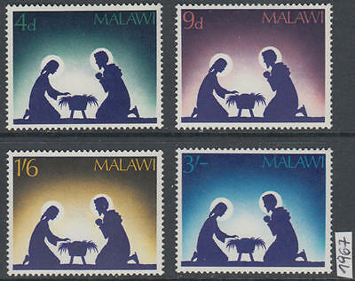 XG-AK994 MALAWI - Christmas, 1967 Nativity, 4 Values MNH Set