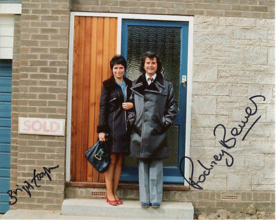 The Likely Lads Photo Signed In Person By Rodney Bewes & Brigit Forsyth - C895