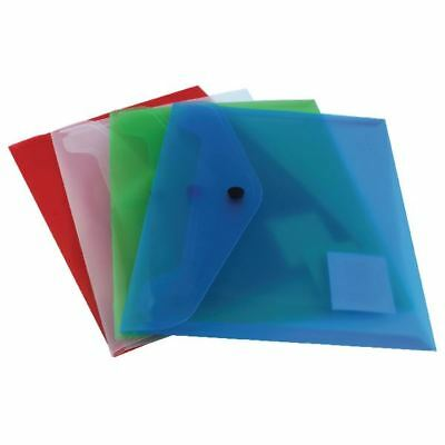 Q-Connect A5 Assorted Polypropylene Popper Folder Pack of 12 KF03609 [KF03609]