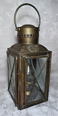 Antique RC Murray & Co Antique Ship's Brass Maritime Lantern Oil Lamp Nautical